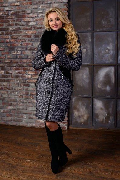 """Купить Пальто """"Силуэт лайт букле крупное песец зима"""" оптом и в розницу"""