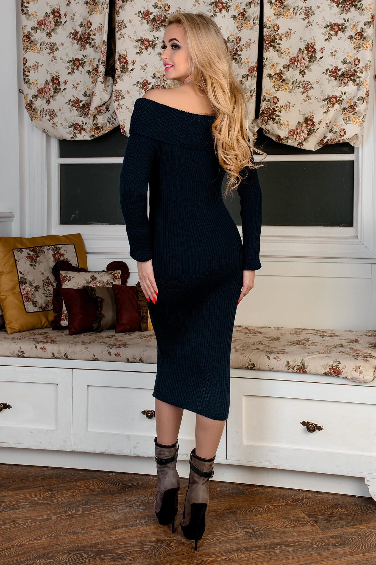 Платье Ксюша АРТ. 9121 Цвет: Синий - фото 3, интернет магазин tm-modus.ru