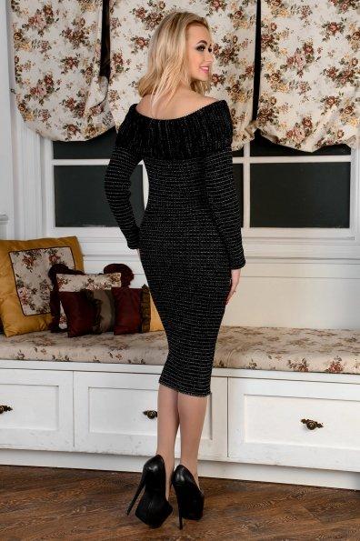 Платье Ксюша Цвет: Черный меланж