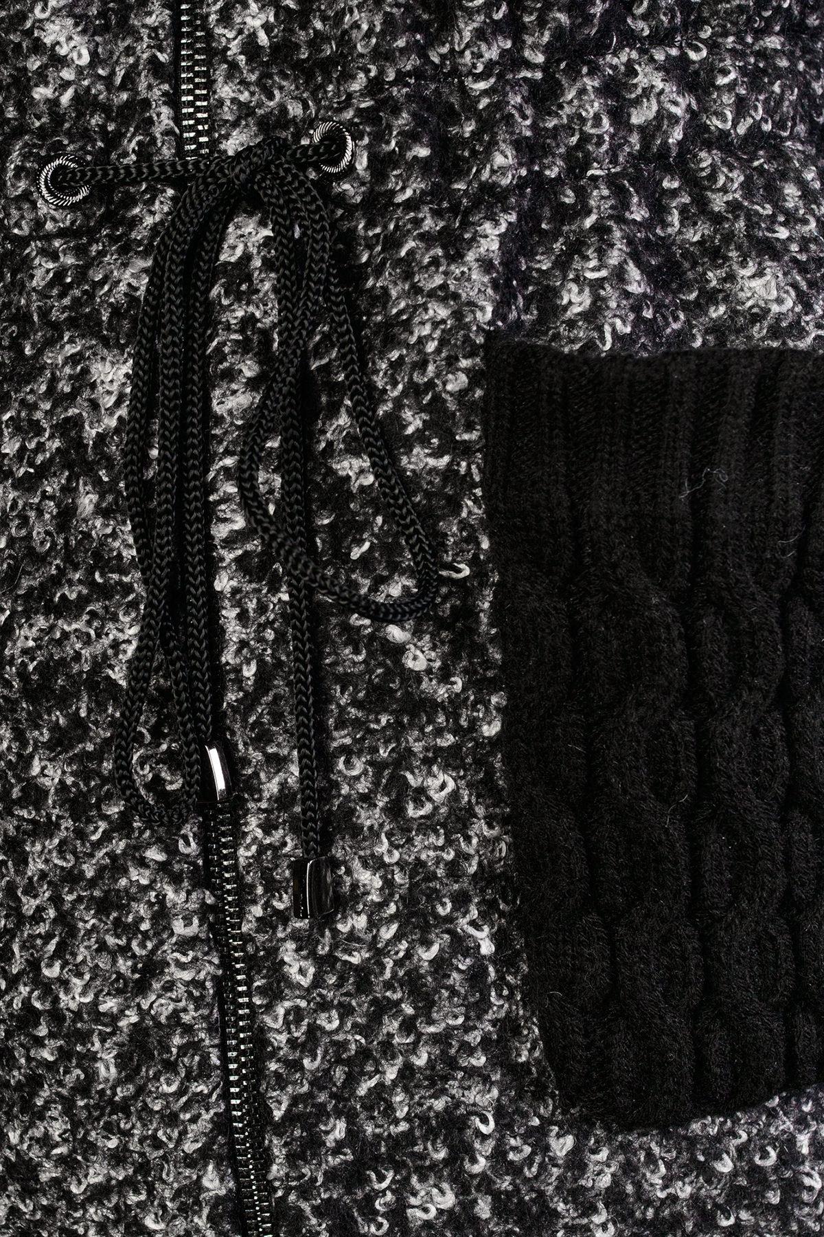 Пальто Старк 1091 АРТ. 9048 Цвет: Чёрно-серый / Черный - фото 4, интернет магазин tm-modus.ru