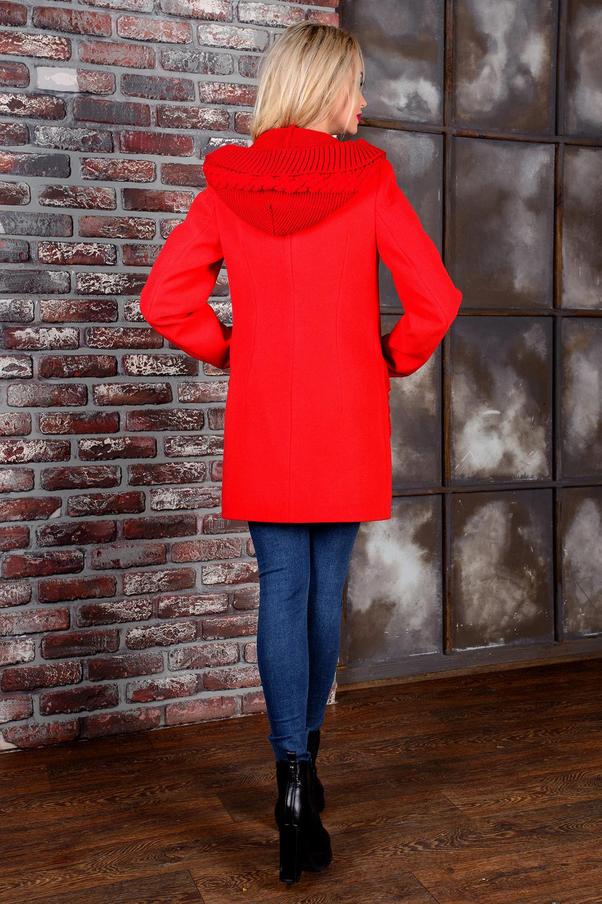 Пальто Джи 1447 АРТ. 9057 Цвет: Красный - фото 3, интернет магазин tm-modus.ru