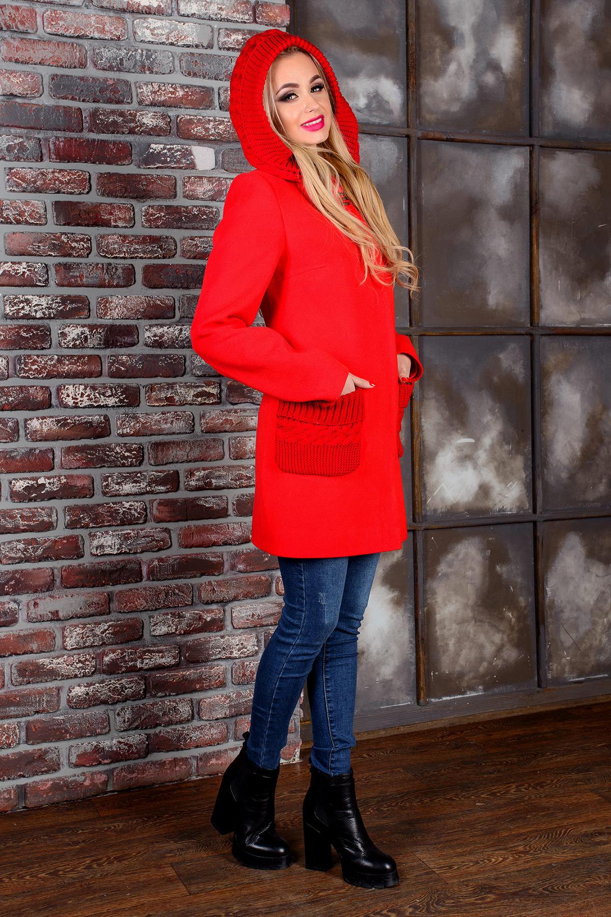 Пальто Джи 1447 АРТ. 9057 Цвет: Красный - фото 2, интернет магазин tm-modus.ru