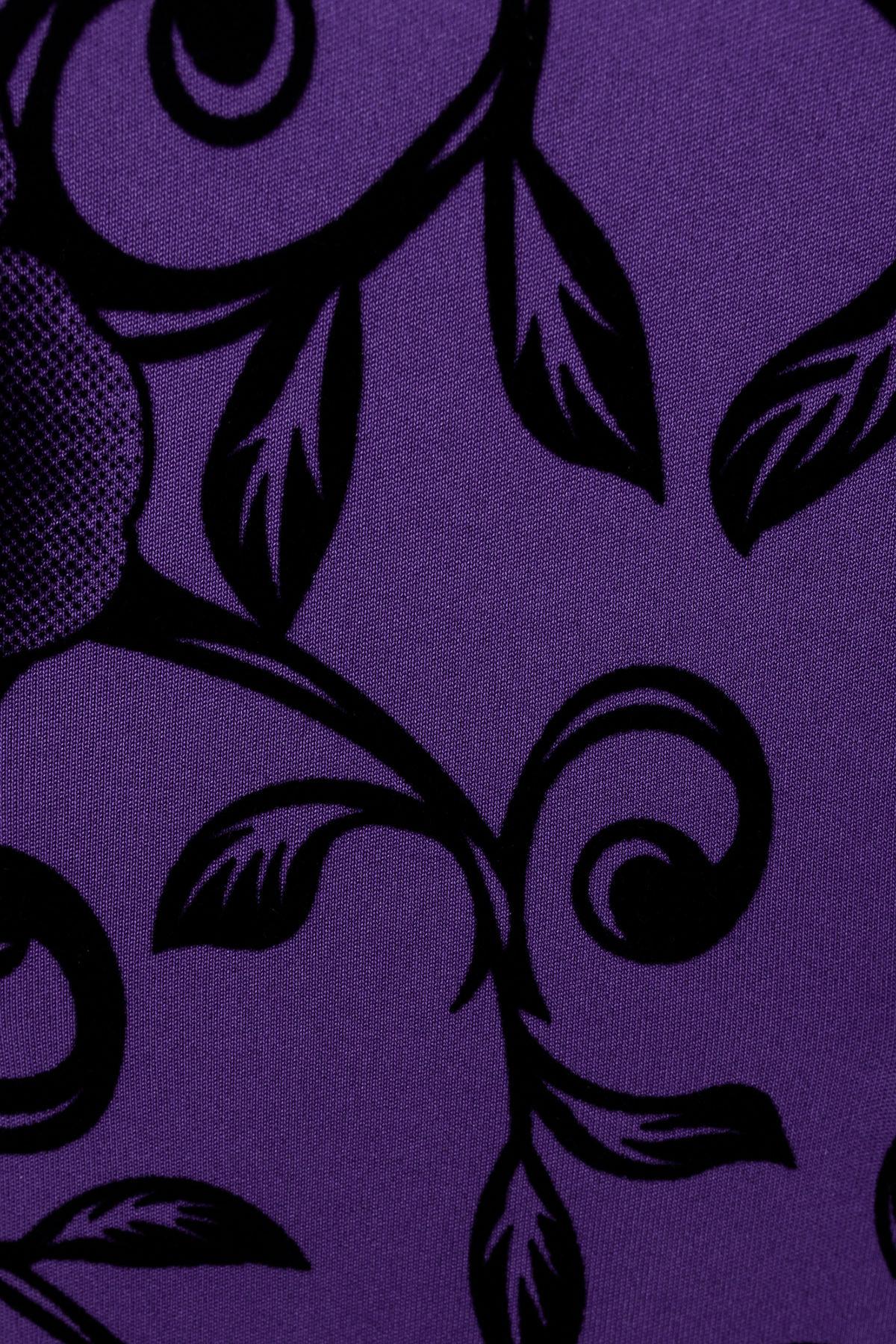 Платье Шамбор 1362  АРТ. 8868 Цвет: Фиолет Розы черн 5 - фото 4, интернет магазин tm-modus.ru
