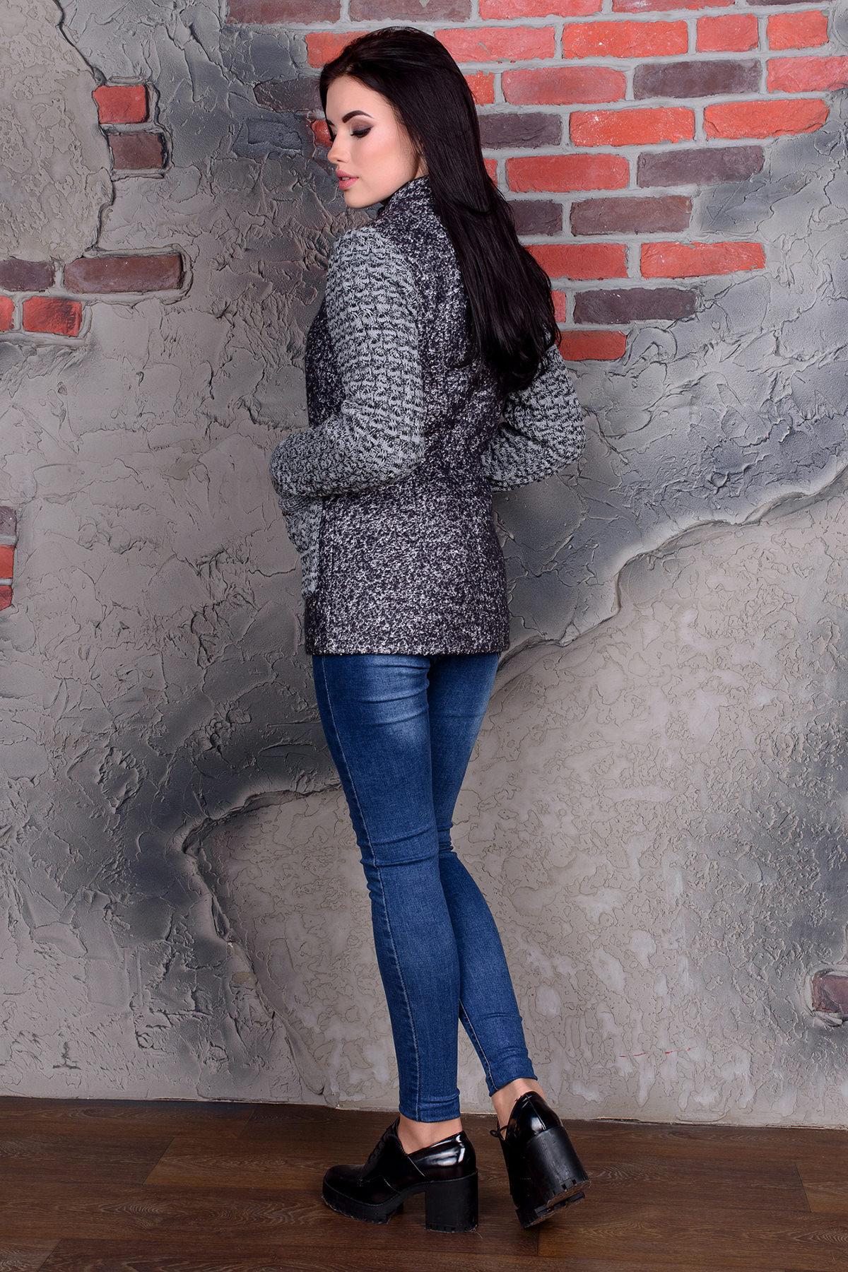 Пальто Старк 1091 АРТ. 9050 Цвет: Тёмно-серый / белый - фото 3, интернет магазин tm-modus.ru