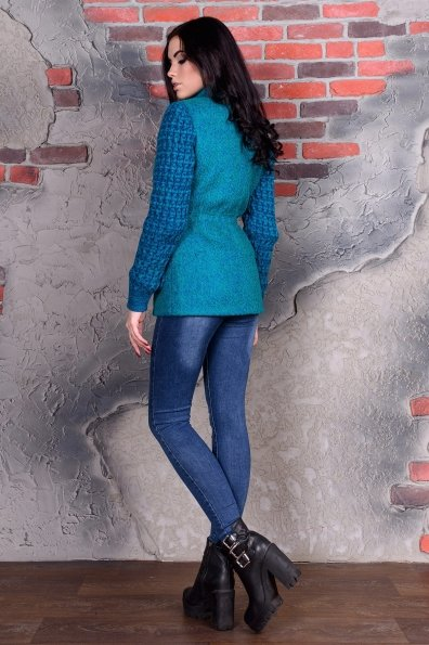 Пальто Старк 1091 Цвет: Бирюза