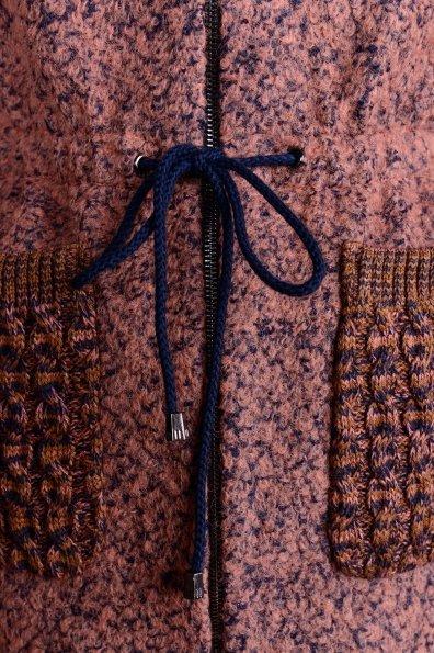 Пальто Старк 1091 Цвет: Какао/тёмно-синий