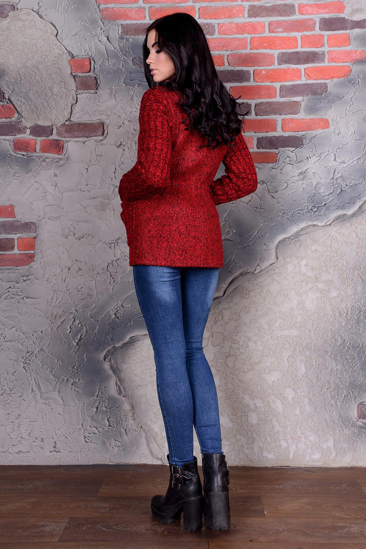 Пальто Старк 1091 АРТ. 9051 Цвет: Красный / черный - фото 3, интернет магазин tm-modus.ru
