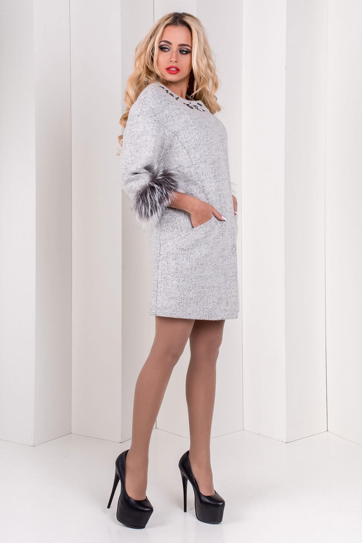 Пальто Ванда шерсть №9  Цвет: Светло-серый 47