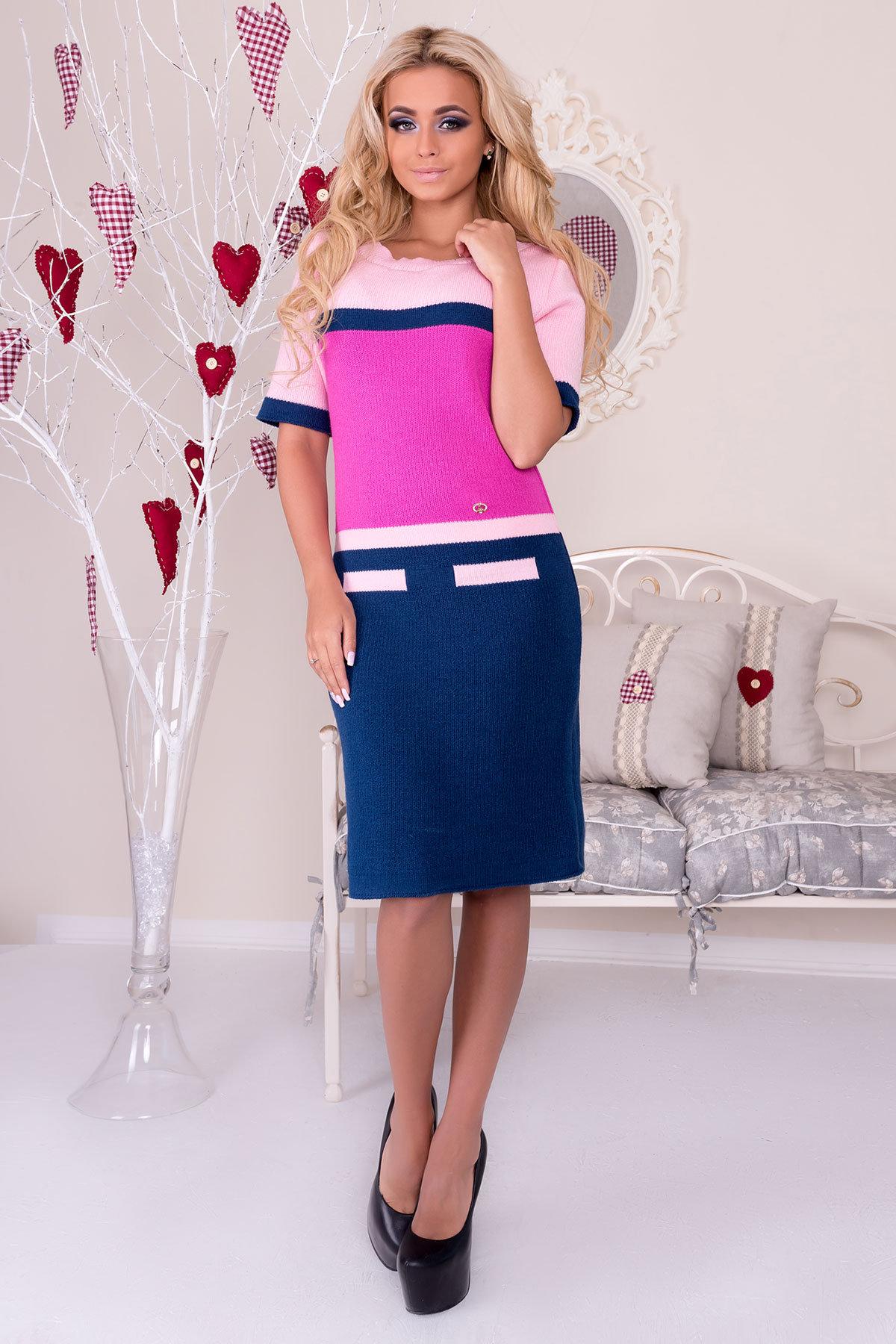 Платье Карамелька  Цвет: Джинс/малина/розовый