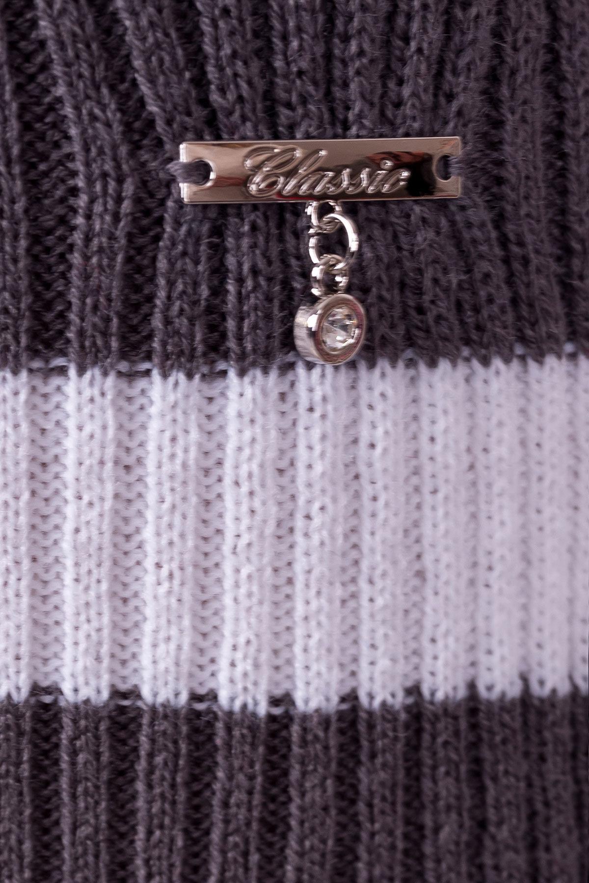 Платье Памела  АРТ. 9951 Цвет: Вишня/серый/белый - фото 4, интернет магазин tm-modus.ru
