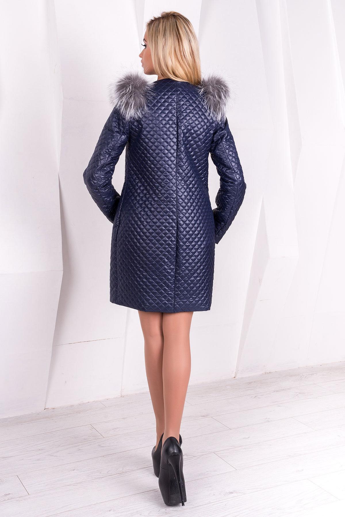 Пальто Соул 1975 АРТ. 9990 Цвет: Тёмно-синий  - фото 3, интернет магазин tm-modus.ru