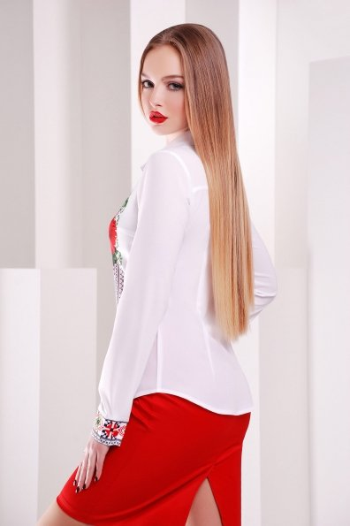 """Купить Блуза """"Вышивка-маки Верина-2 д/р"""" оптом и в розницу"""