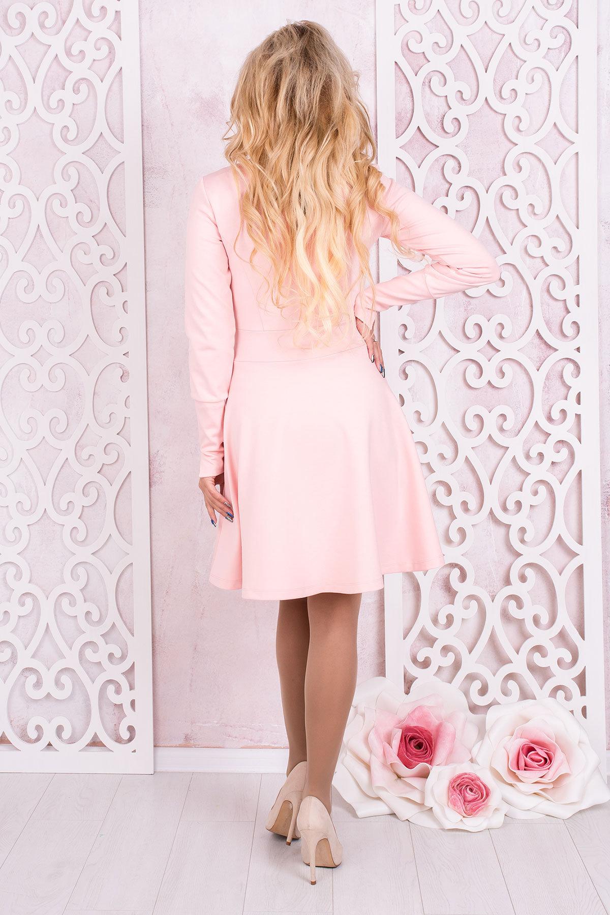 Платье Доларис 1925 АРТ. 13621 Цвет: Розовый - фото 3, интернет магазин tm-modus.ru