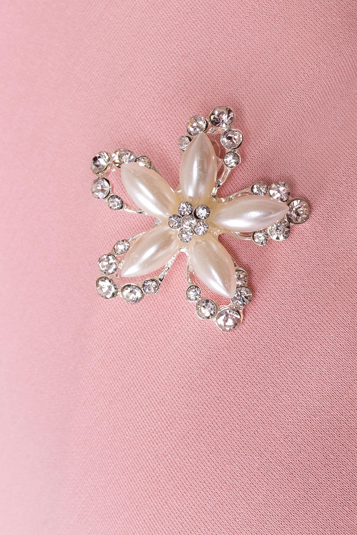 Платье Доларис 1925 АРТ. 13621 Цвет: Розовый - фото 4, интернет магазин tm-modus.ru