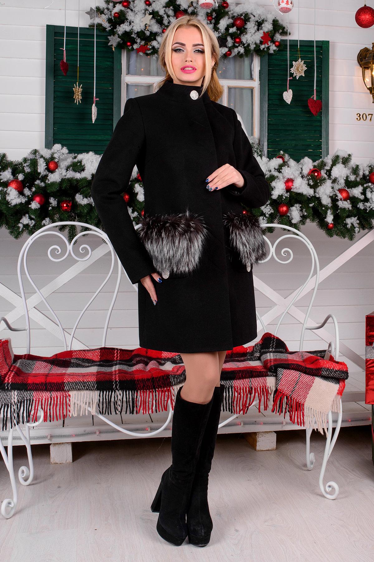 Купить пальто в Украине оптом Пальто Мелини (76) меховые карманы