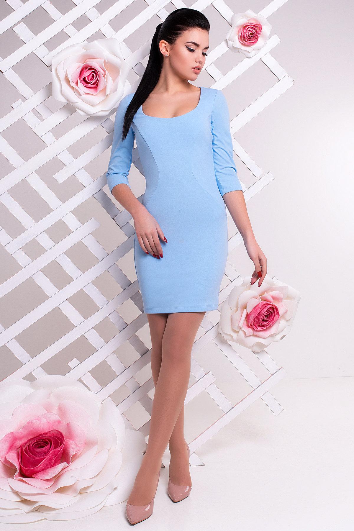 Купить оптом трикотажные платья в Украине Платье Тата 2099