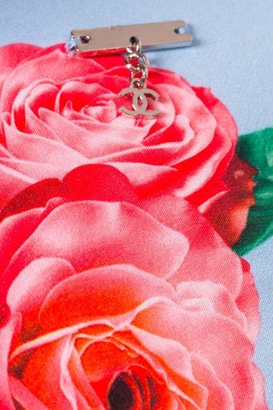 Платье Пиония лайт 942 Цвет: Голубой Розы красные кр 2/4