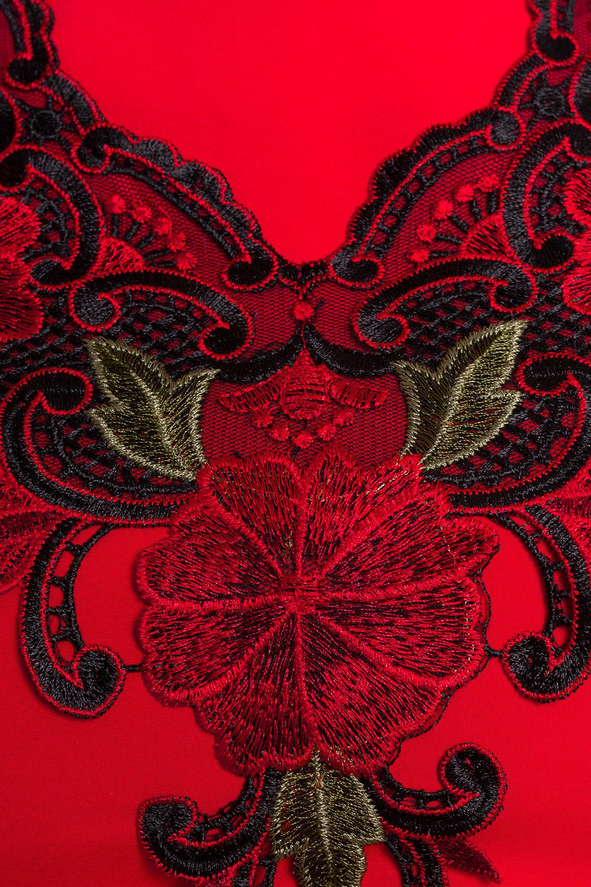 Платье Ариель 407 АРТ. 6704 Цвет: Красный - фото 3, интернет магазин tm-modus.ru