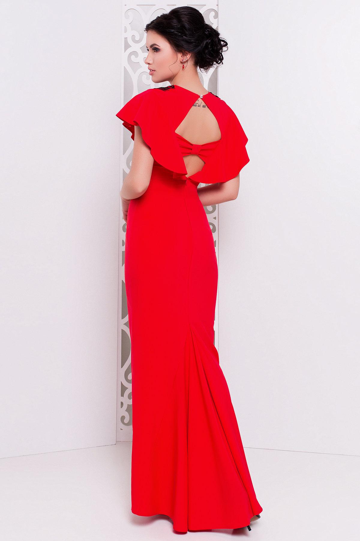 Платье Ариель 407 АРТ. 6704 Цвет: Красный - фото 2, интернет магазин tm-modus.ru