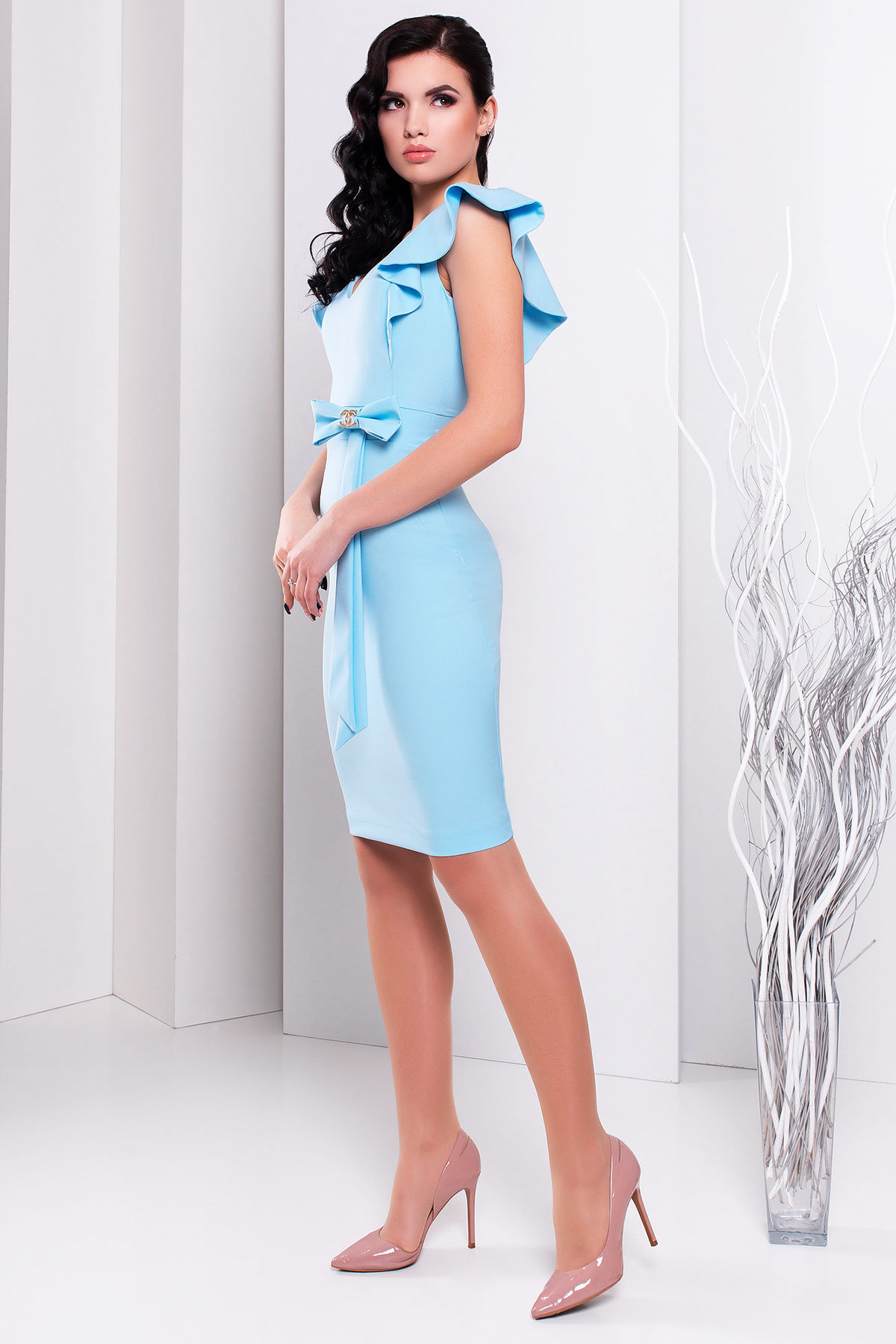 Платье Жаде 131 АРТ. 14955 Цвет: Голубой - фото 2, интернет магазин tm-modus.ru