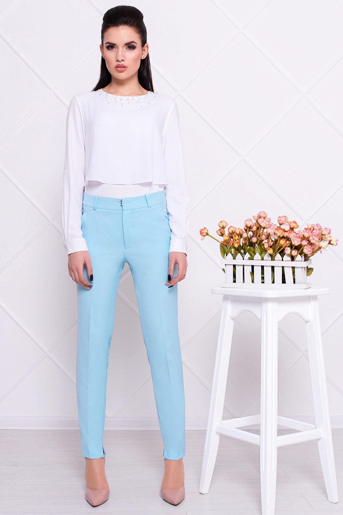 купить женские брюки оптом Базовые брюки со стрелками Эдвин 2467