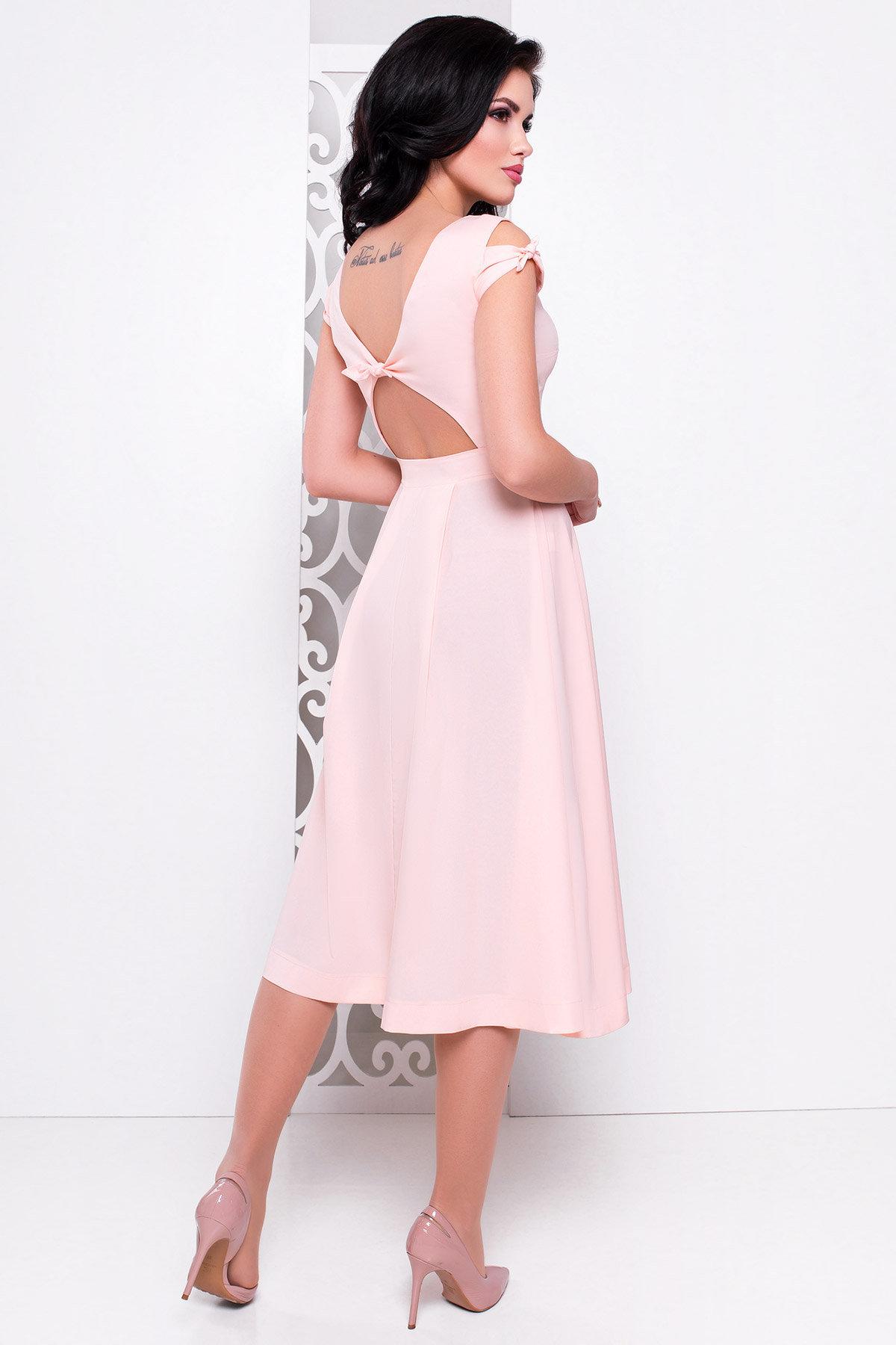 Платье Жадор миди 2929 АРТ. 15325 Цвет: Персик - фото 2, интернет магазин tm-modus.ru