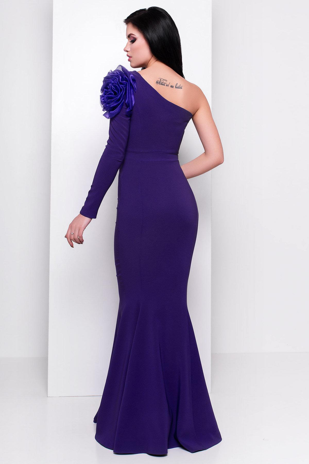 Платье Претти 409 АРТ. 6713 Цвет: Тёмный-фиолет - фото 2, интернет магазин tm-modus.ru