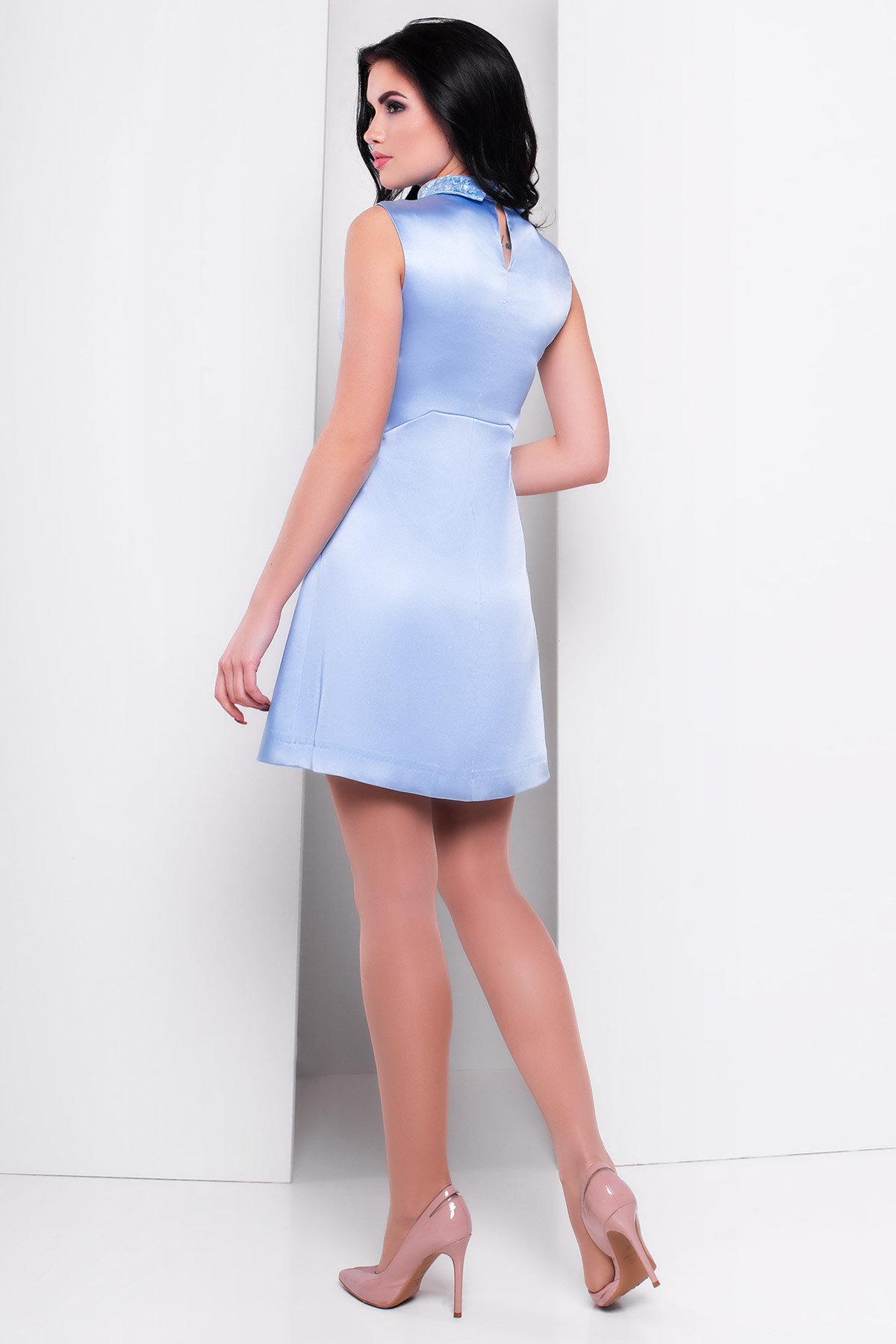 Платье Виндроуз 2919 АРТ. 15189 Цвет: Голубой - фото 2, интернет магазин tm-modus.ru