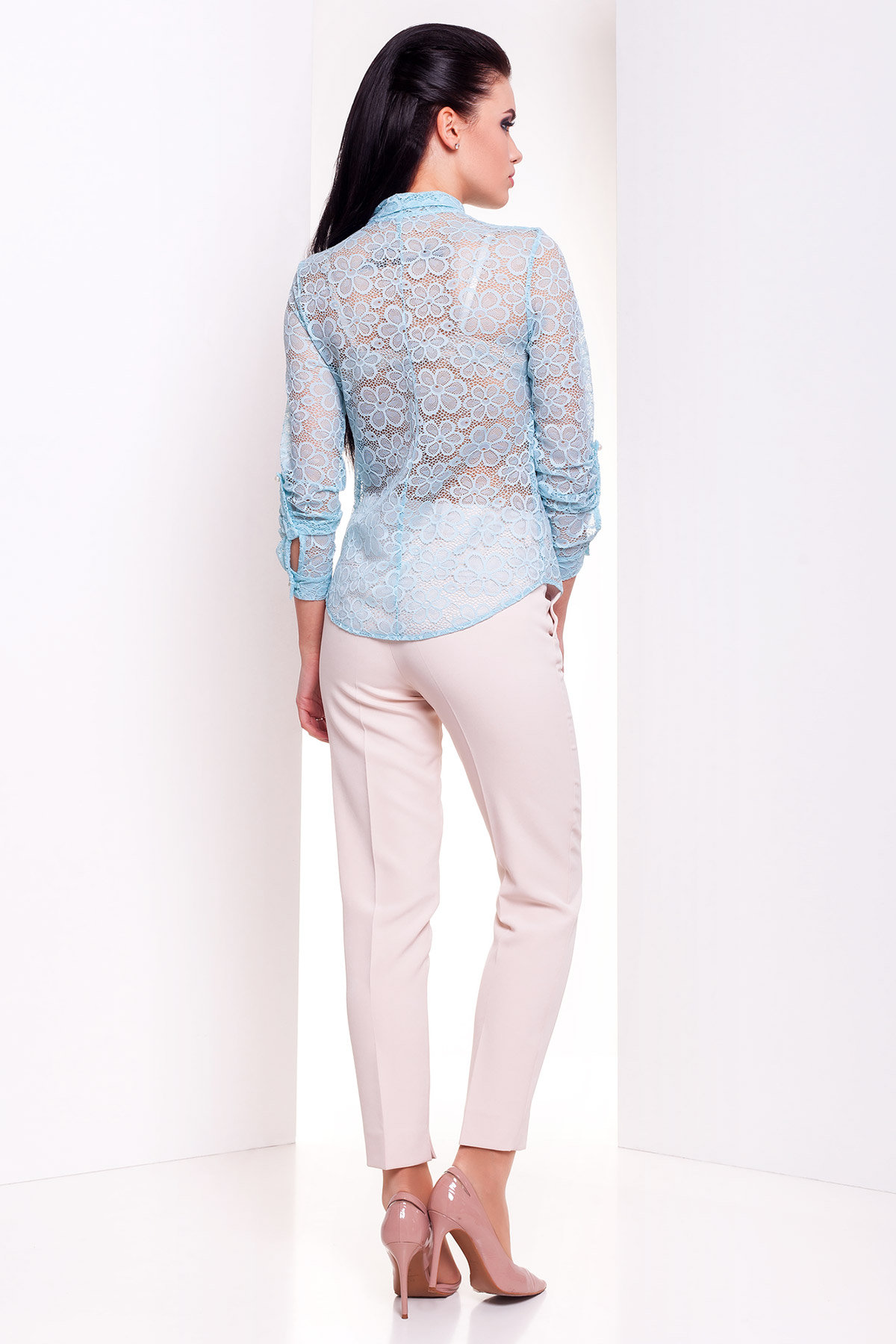 Блуза Асти 2893 АРТ. 15170 Цвет: Мята  - фото 3, интернет магазин tm-modus.ru