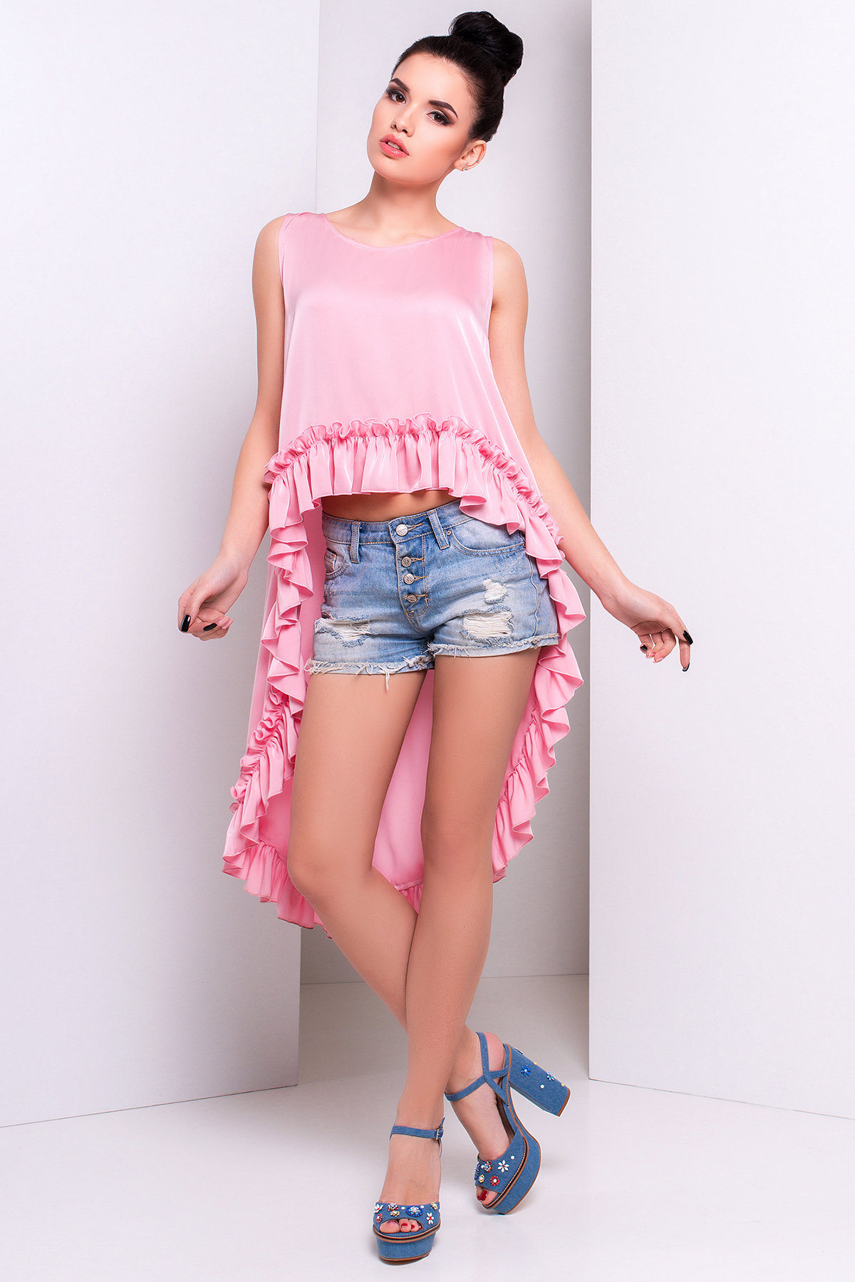 Блуза Дезири 2744  Цвет: Розовый
