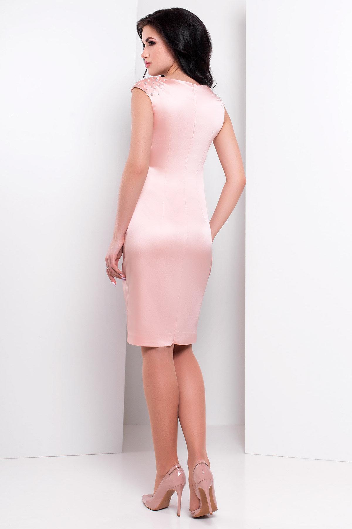 Платье Дарина 2964 АРТ. 15619 Цвет: Персик - фото 2, интернет магазин tm-modus.ru