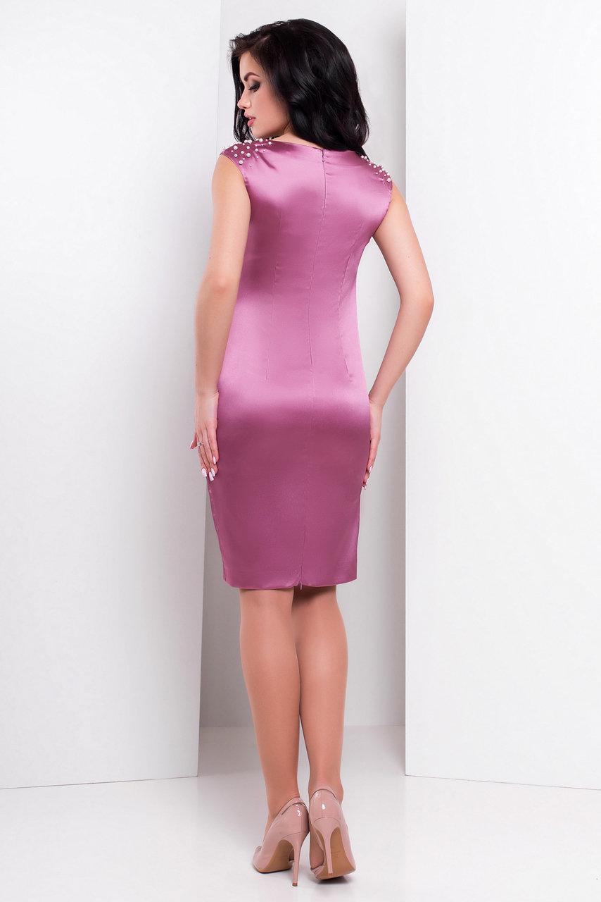 Платье Дарина 2964 АРТ. 15620 Цвет: Слива - фото 2, интернет магазин tm-modus.ru