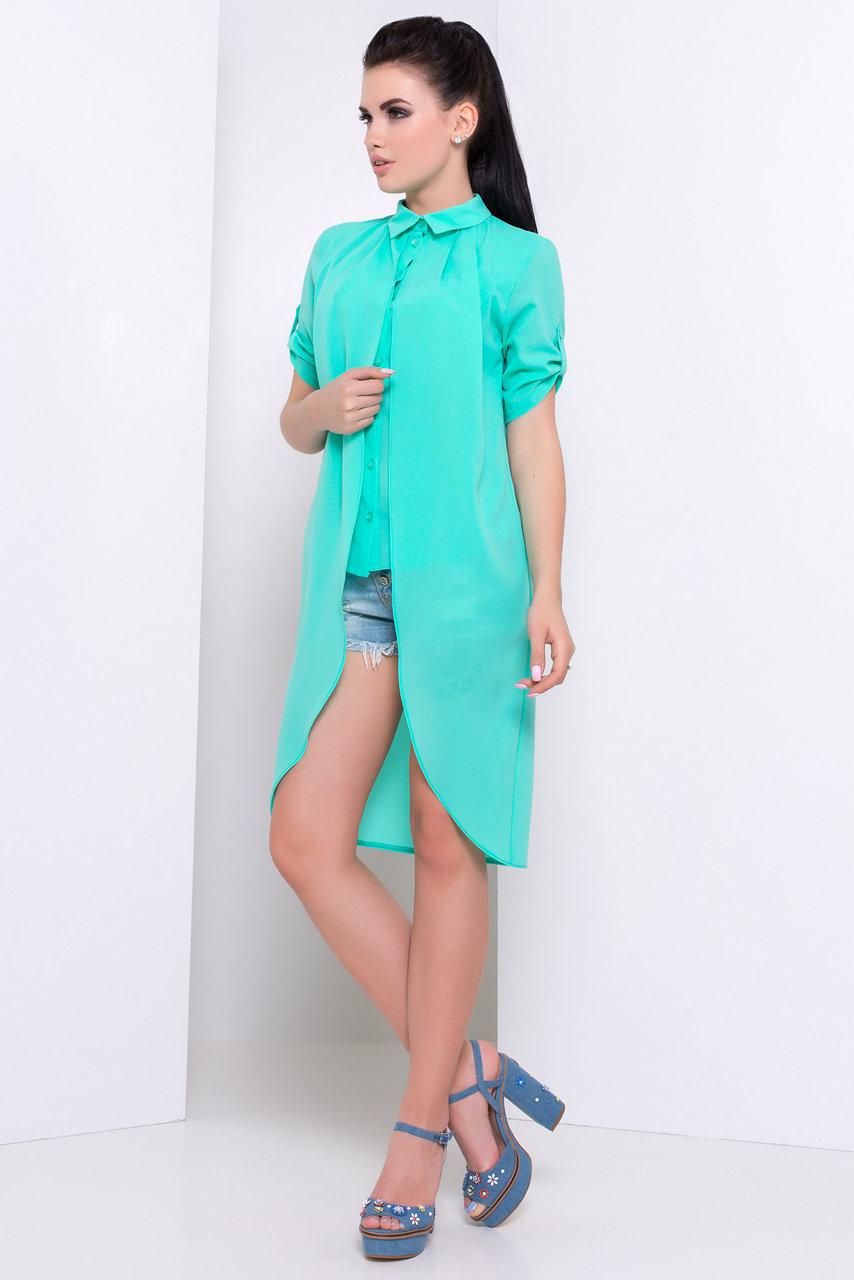 Рубашка Паола 3020 Цвет: Мята