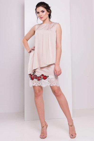 Платье Ителия 3102 Цвет: Бежевый