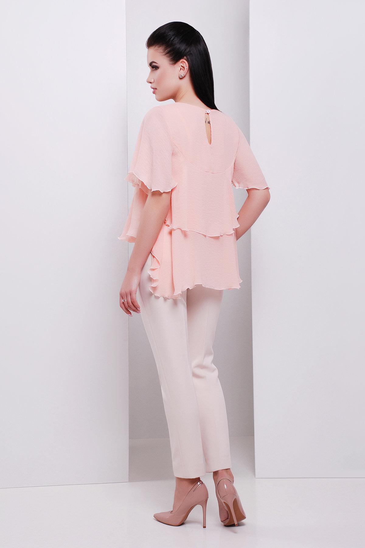 Блуза Юта 3096  АРТ. 16044 Цвет: Персик - фото 2, интернет магазин tm-modus.ru