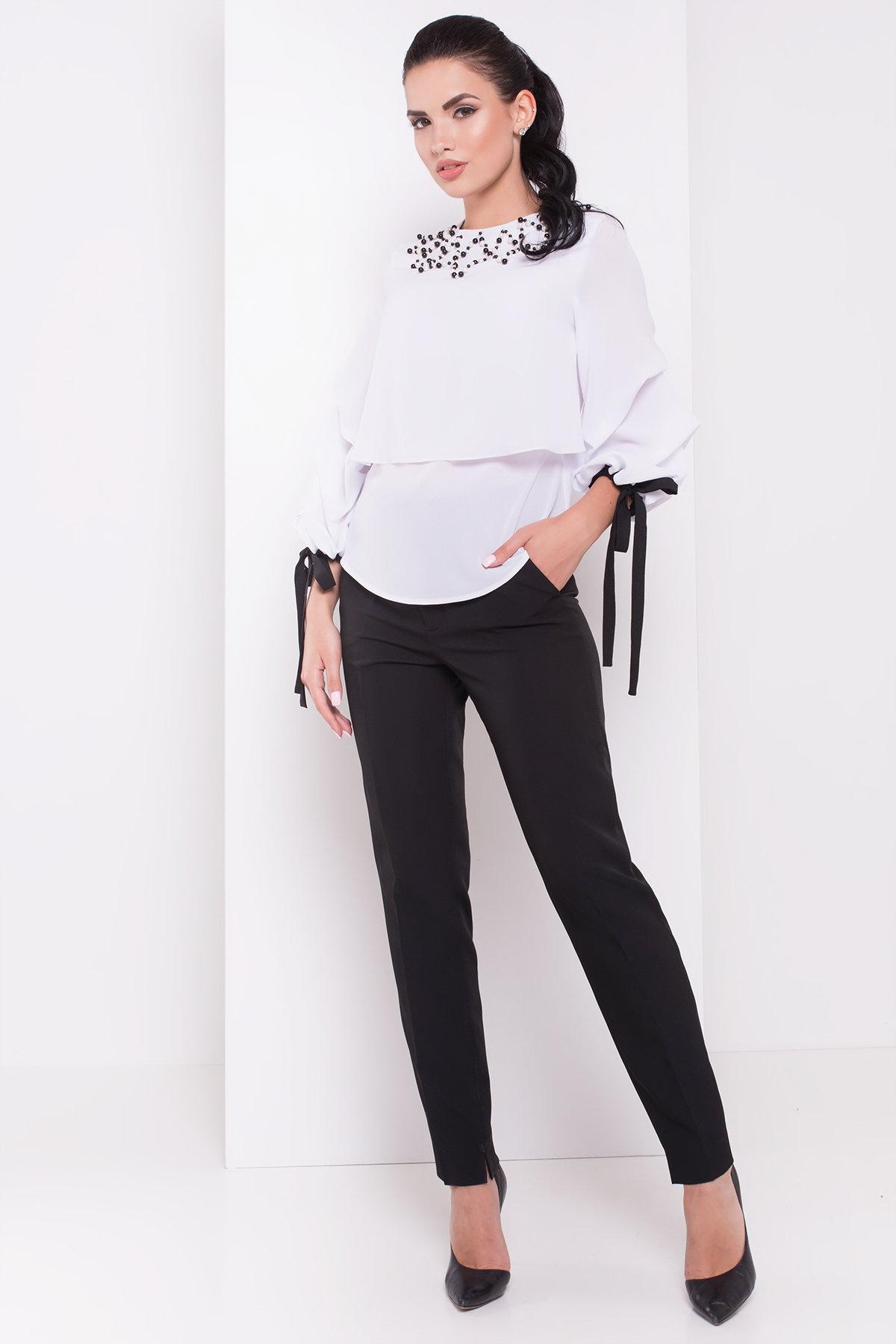 Блуза Пандора 3228 Цвет: Белый/черный