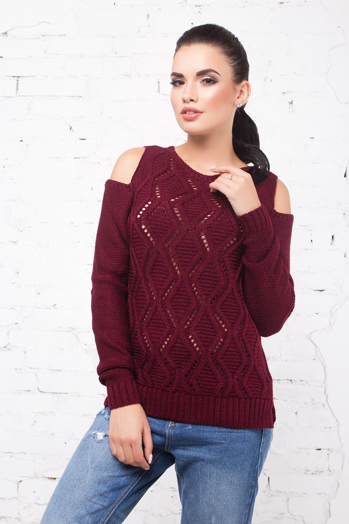 женский вязаный свитер Свитер плечо Лало