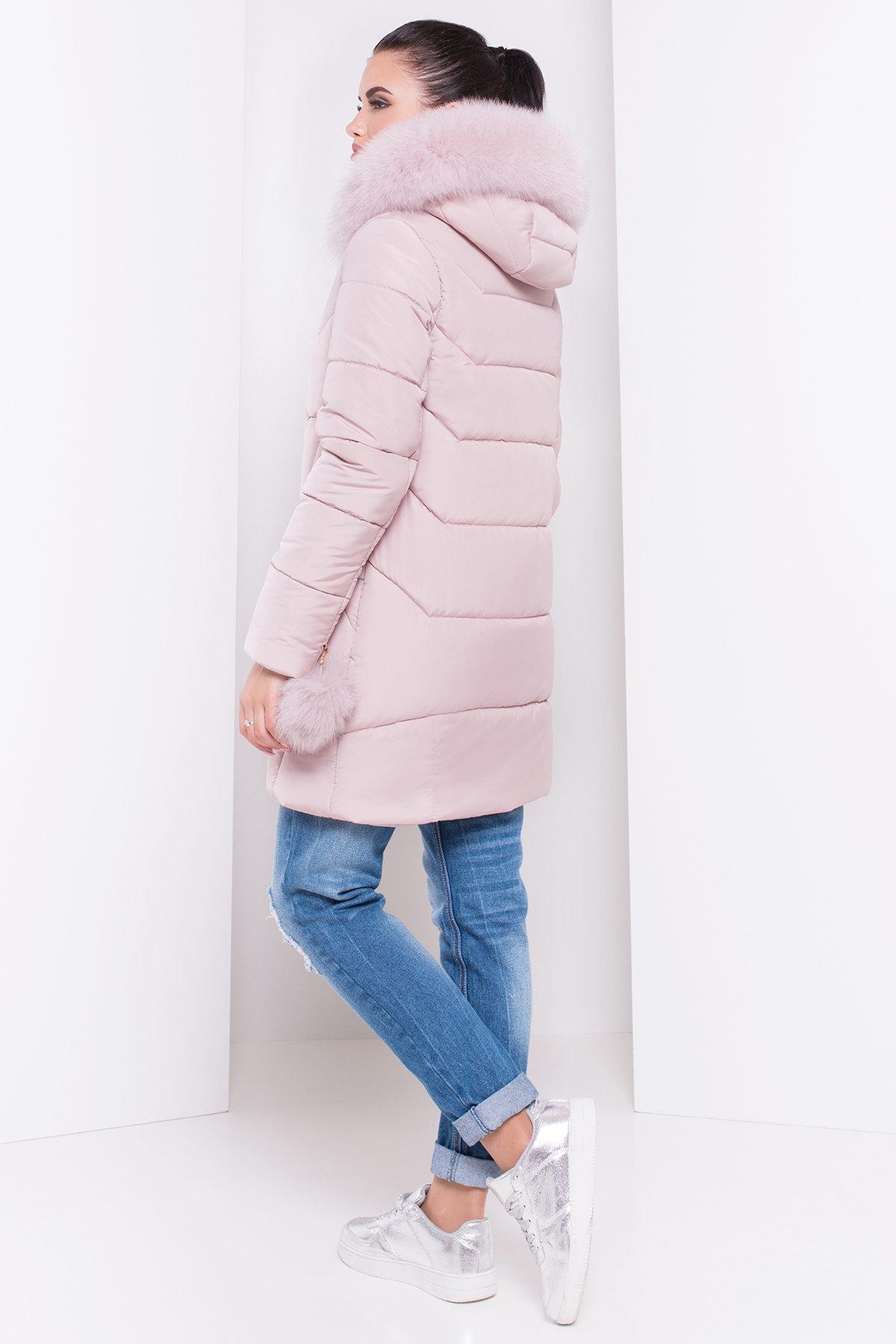Пуховик Ари 3113 АРТ. 16412 Цвет: Серо-розовый - фото 3, интернет магазин tm-modus.ru