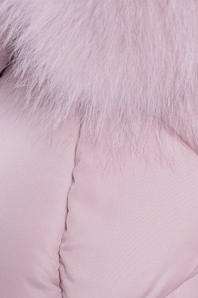 Пуховик Ари 3113 Цвет: Серо-розовый