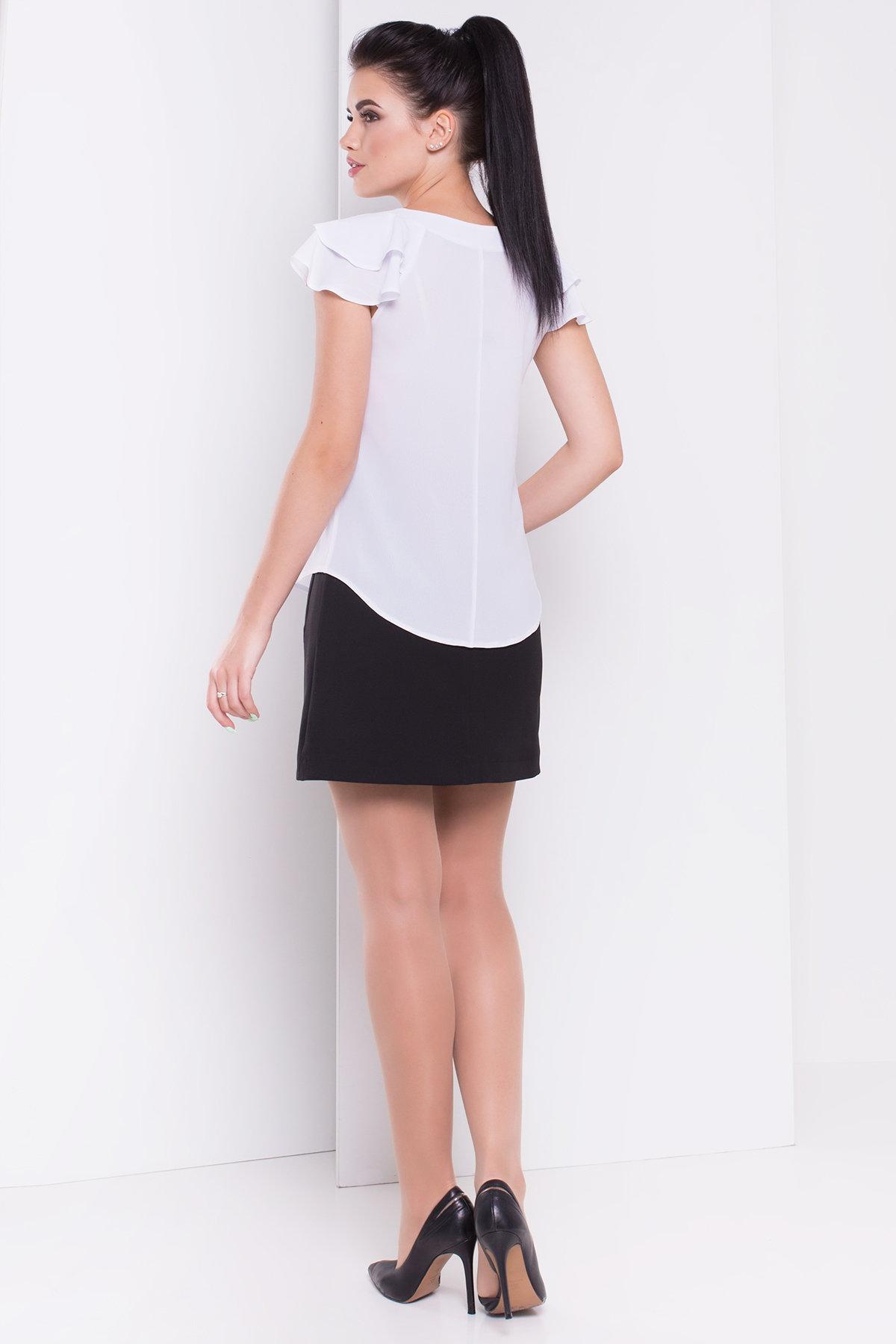 Блуза с воланами Инканто креп АРТ. 3811 Цвет: Белый - фото 2, интернет магазин tm-modus.ru