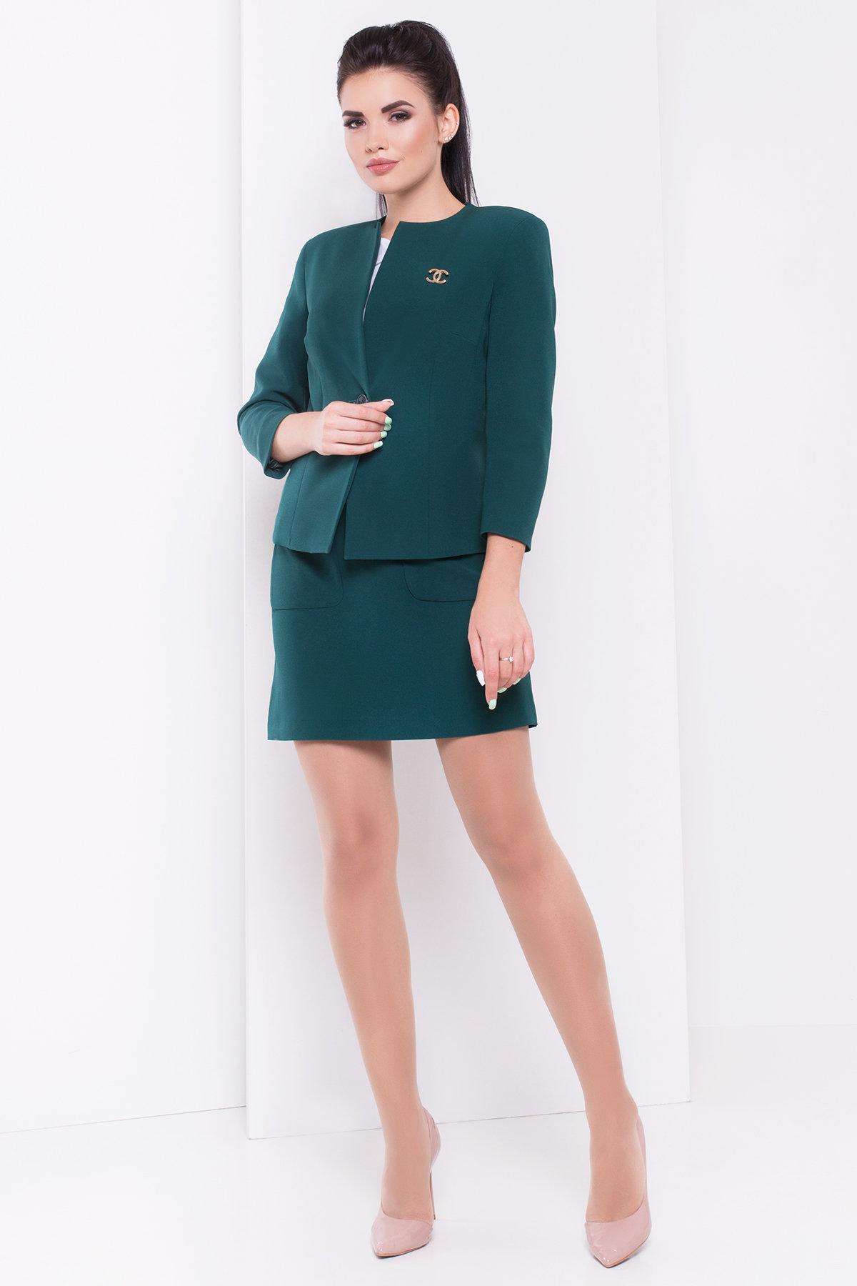 Жакет Земфира 2758 АРТ. 16789 Цвет: Темно-зеленый - фото 2, интернет магазин tm-modus.ru
