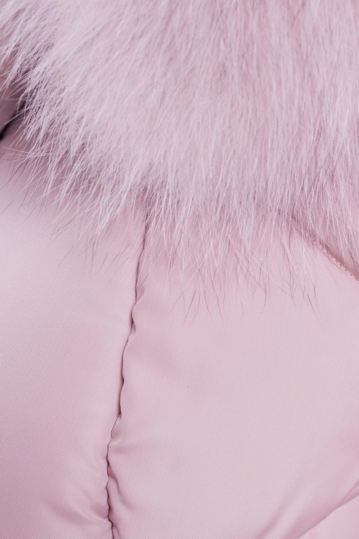 Пуховик Айлин 3114 Цвет: Серо-розовый
