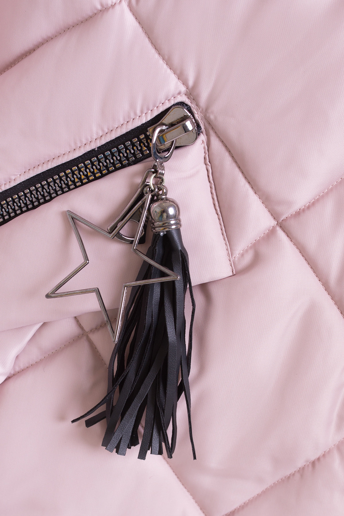 Куртка на зиму со стежкой ромбами Лисбет 3253 АРТ. 16729 Цвет: Серо-розовый - фото 4, интернет магазин tm-modus.ru