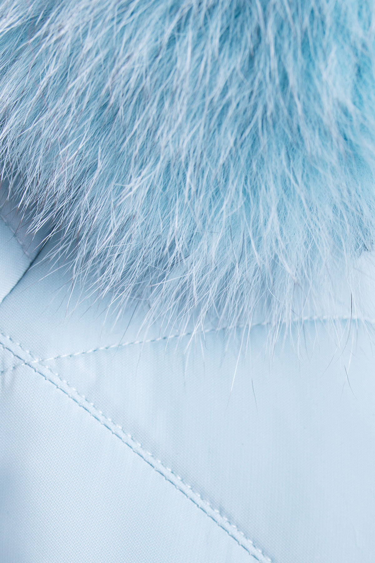 Короткий пуховик Ева 3112 АРТ. 16457 Цвет: Голубой - фото 4, интернет магазин tm-modus.ru