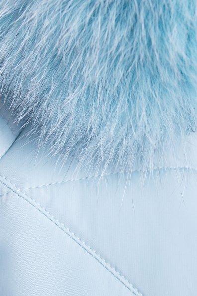 Короткий пуховик Ева 3112 Цвет: Голубой