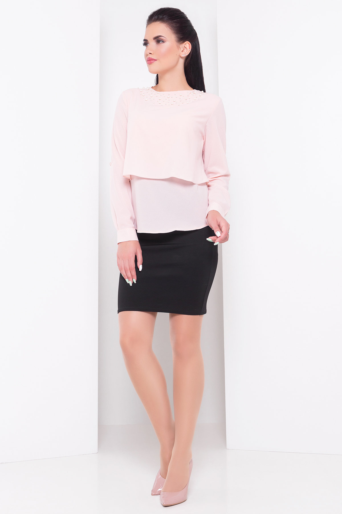 Оптом белые блузки от производителя Блуза Ноа 3261