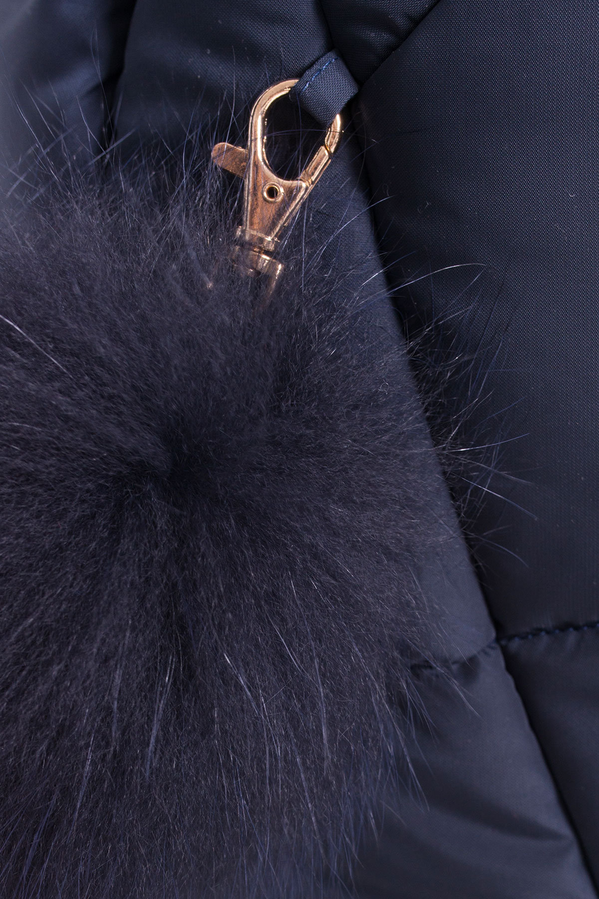 Пуховик с натуральным мехом песца Ари 3113 АРТ. 16980 Цвет: Тёмно-синий - фото 4, интернет магазин tm-modus.ru