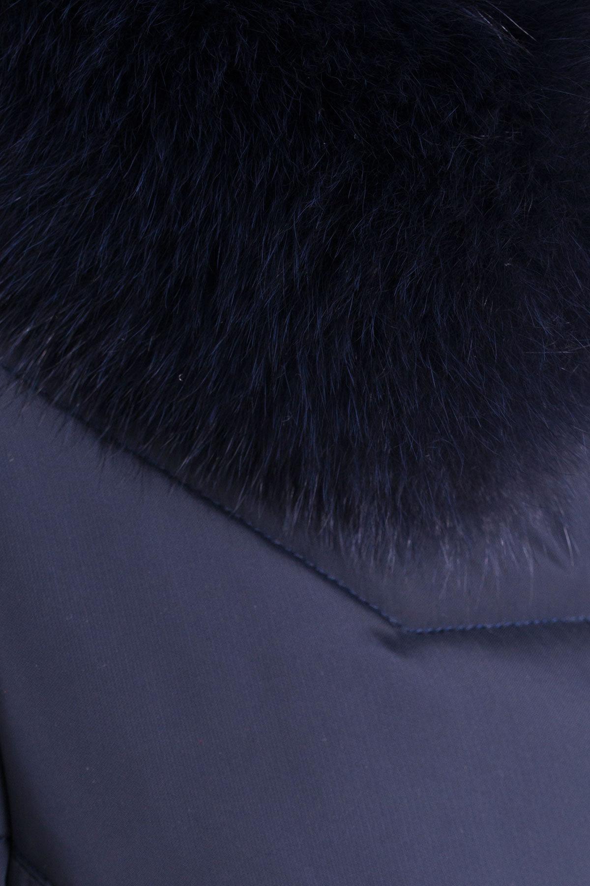 Пуховик с натуральным мехом песца Ари 3113 АРТ. 16980 Цвет: Тёмно-синий - фото 5, интернет магазин tm-modus.ru