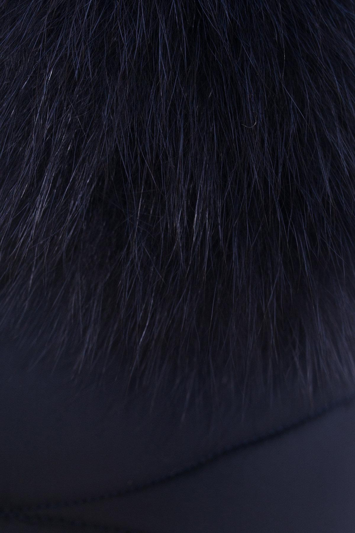 Пуховик с капюшоном Ингрид 3267 АРТ. 16940 Цвет: Темно-синий - фото 4, интернет магазин tm-modus.ru