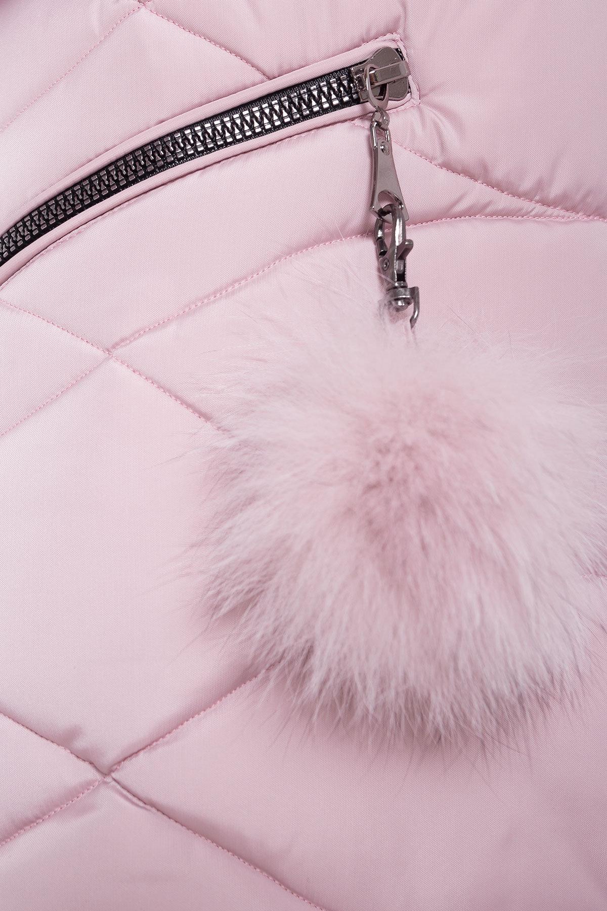 Пуховик с капюшоном Ингрид 3267 АРТ. 16793 Цвет: Серо-розовый - фото 4, интернет магазин tm-modus.ru
